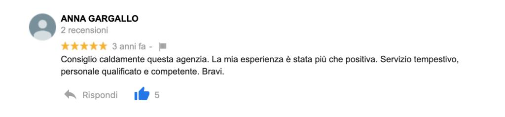 Recensione Anna Gargallo