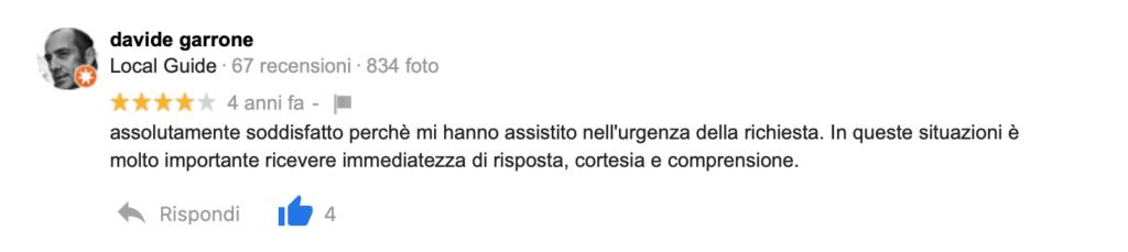 Recensione Davide Garrone
